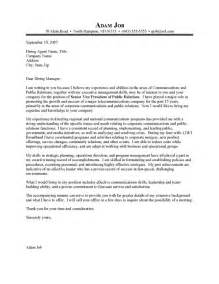 pr cover letter sle cover letter for relations officer cover