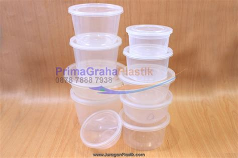 Plastik Cup Cangkir Puding Tahan Panas Untuk Microwave Oven 300 Ml Tutup mangkok puding oven 200ml sanpak home