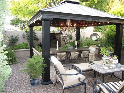 Gazebos For Patios The Gravel Patio The Metal Gazebo The Lights Pergolas Gazebos Growing