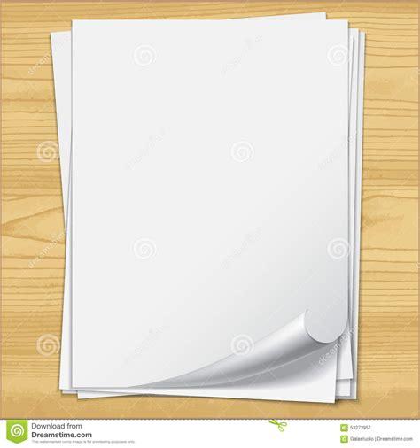 imagenes para hojas blancas hojas blancas del papel del cuaderno en el fondo de madera
