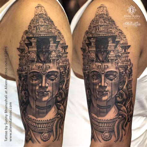 temple tattoo lord shiva shiva aliens tattoos mumbai