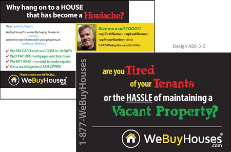 buying house directly from owner new variable print bandit signs absentee postcards we buy houses 174 marketing portal