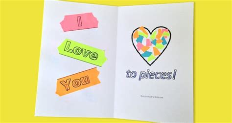 i you to pieces s day card template i you to pieces printable card