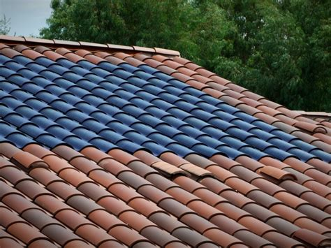 Ceramic Tile Roof Jetson Green Clay Roof Integrated Sol 233 Power Tile