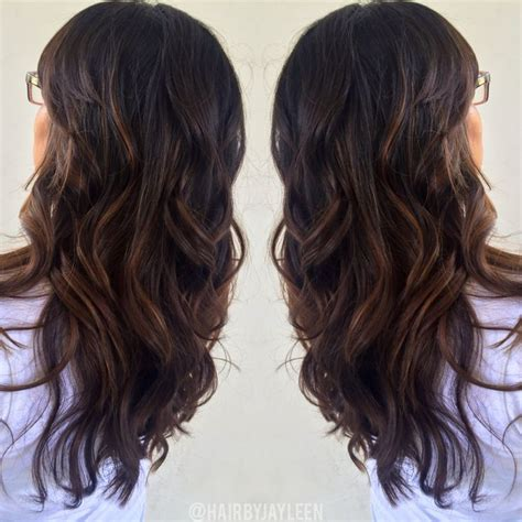 warm color hair highlight palette brown caramel balayage highlights chocolate haircolor