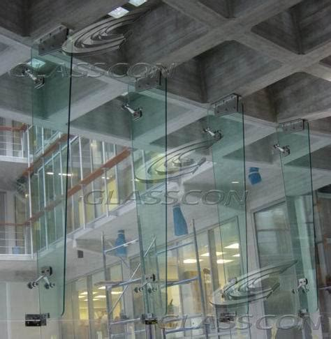 glass fin curtain wall curved spider glass curtain wall with rotules and glass