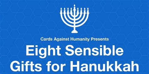 Cards Against Humanity Eight Sensible Gifts - cards against humanity launch last holiday event eight sensible gifts for hanukkah