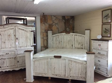 texas rustic  louisianas antique white bedroom group