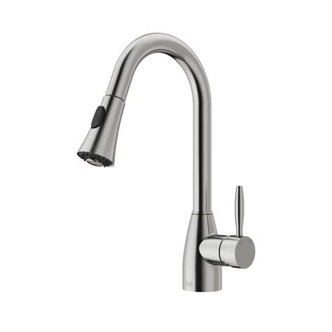 pull kitchen faucets stainless steel shop vigo stainless steel 1 handle pull out kitchen faucet at lowes