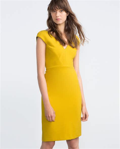Zahra Dress zara shift dress in metallic lyst