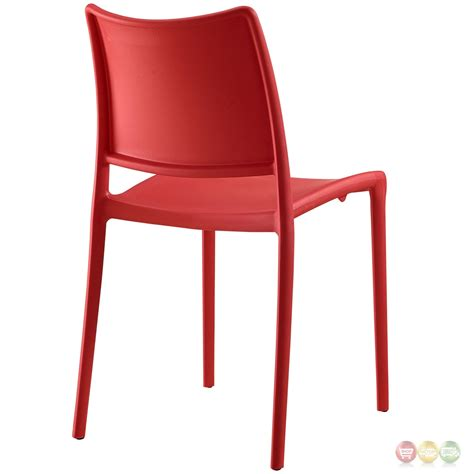 Molded Plastic Dining Chairs Set Of 4 Casual Stackable Plastic Molded Dining Side Chair