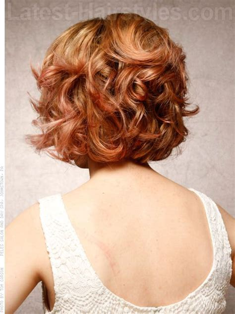 short curly bob hairstyles pictures of back layered bob hairstyles back view marilyn magic retro