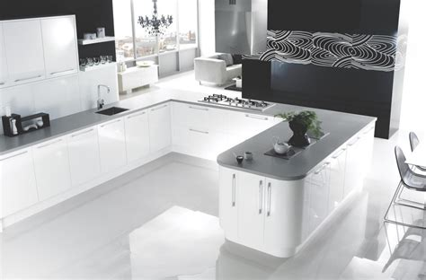 Good Flooring For Kitchens - using high gloss tiles for kitchen is good interior design inspirations