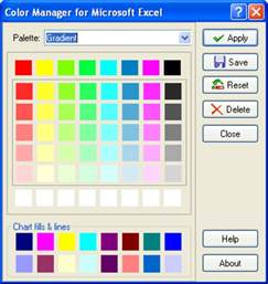 excel color palette color manager for microsoft excel 2 0 1 23