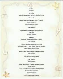 Family reunion itinerary samples best agenda templates