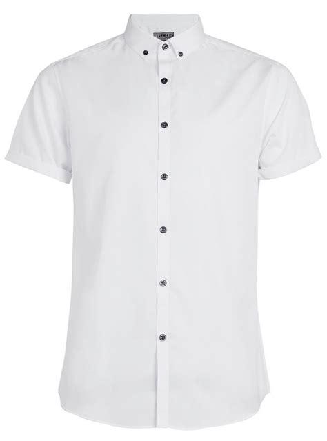 Sleeve Button Shirt white sleeve button smart shirt topman
