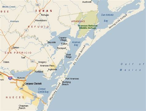 gulf of texas map gulf coast region corpus christi texas area map