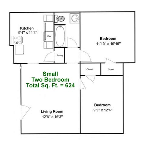 2 bedroom floor plan landmark square apartments in erie pa