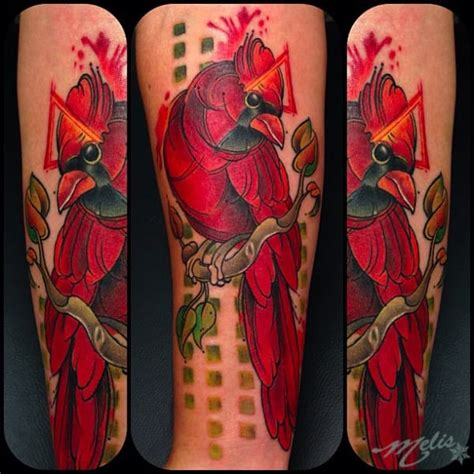 cardinal rose tattoo flower and wolf on left half sleeve by