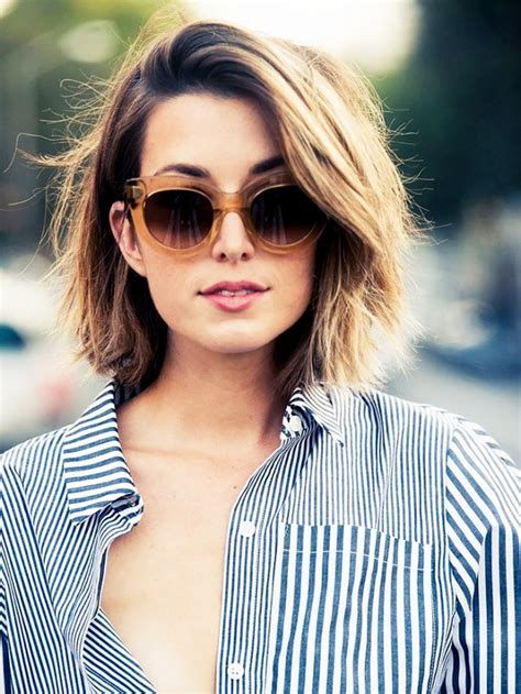 flattering low maintenance hairstyles the most flattering short haircuts for thick hair byrdie au