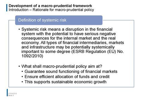 Development Of A Macro Prudential Framework Exle Of A Macro Prudential Policy Framework For It Policy Framework Template