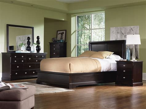 georgetown  piece king bedroom set dark merlot levin furniture
