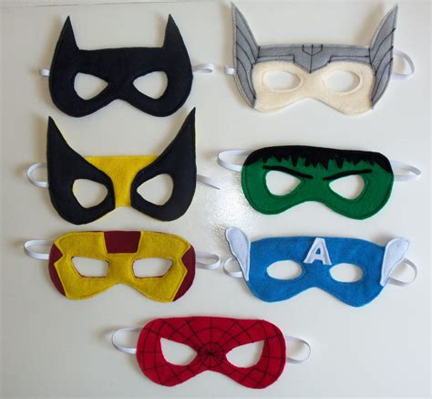 superhero party masks cutesy crafts