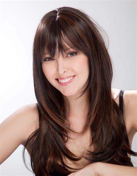 pelo largo corte moda cabellos cortes de pelo largo en capas para mujeres