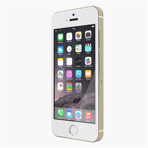apple iphone 5s all color 3d model max obj cgtrader