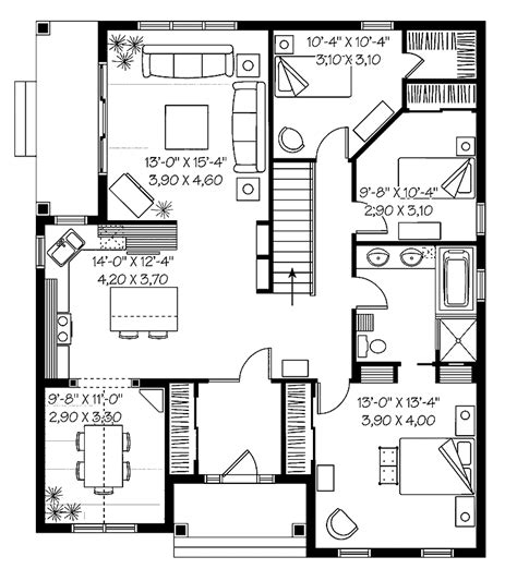 low cost house plan low cost country cottage hwbdo65239 country house plan from builderhouseplans com