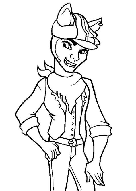 monster high coloring pages clawd wolf kids n fun com coloring page monster high clawd wolf