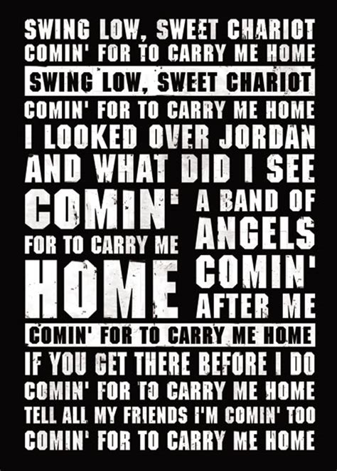 swing low sweet chariot lyrics rugby song lyrics poster magik city cool t