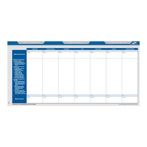 Rpm Life Planner Forms Refills Tony Robbins Tony Robbins Rpm Planner Template