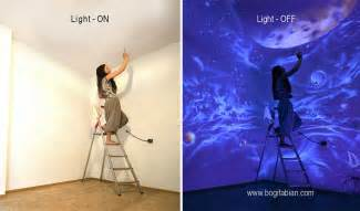 artist paints rooms with murals that glow under blacklight top 25 best wall paintings ideas on pinterest wall