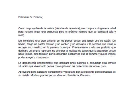 Carta Formal Al Director ejemplo de carta al director cartas de opini 243 n