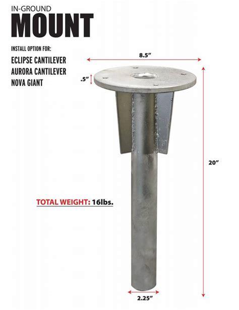 Galvanized Steel Umbrella Base   Residential and