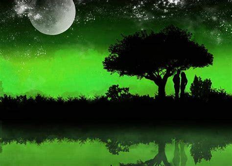 imagenes verdes de amor fondo pantalla amor bajo luna