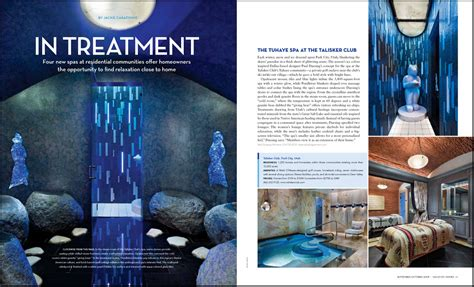 hotel magazine layout in treatment lioninoil