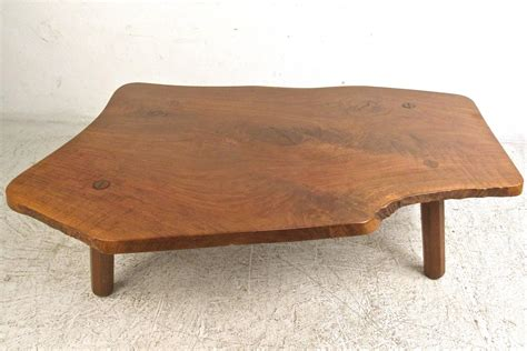 Tree Slab Coffee Table Vintage Rustic Tree Slab Free Edge Coffee Table For Sale At 1stdibs