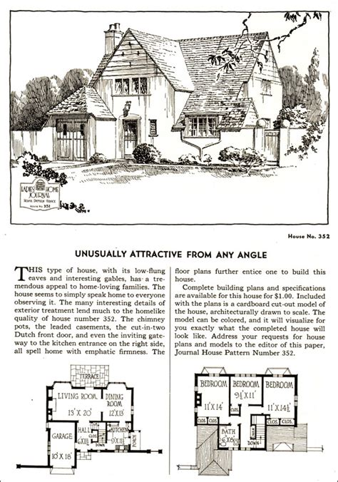 cottage plans designs 1935 english cottage style ladies home journal small
