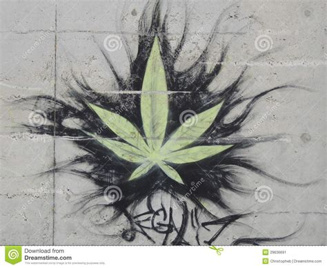 graffiti cannabis leaf editorial photo image of sheet