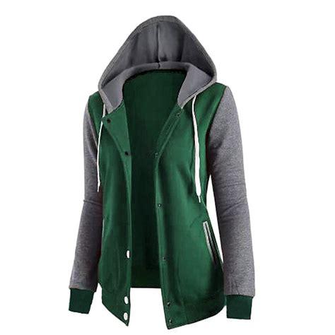Hooded Baseball Jacket hooded varsity baseball jacket coat hoodie