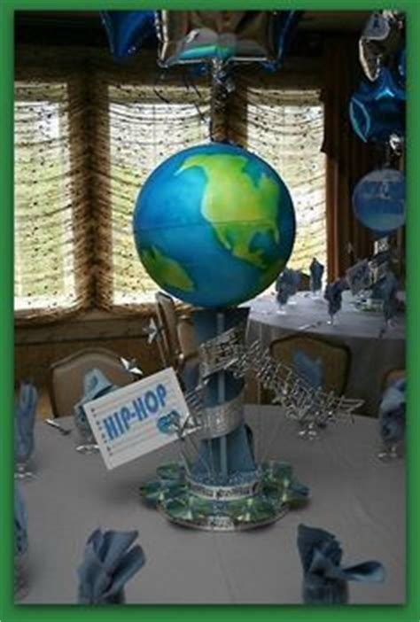 around the world centerpieces globe of the world centerpiece for a green