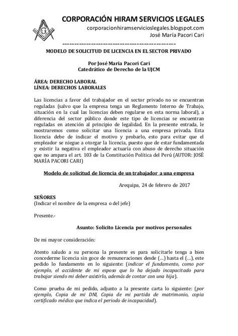 ejemplo carta solicitud de licencia carta de solicitud de licencia 88 ejemplos de memorandum