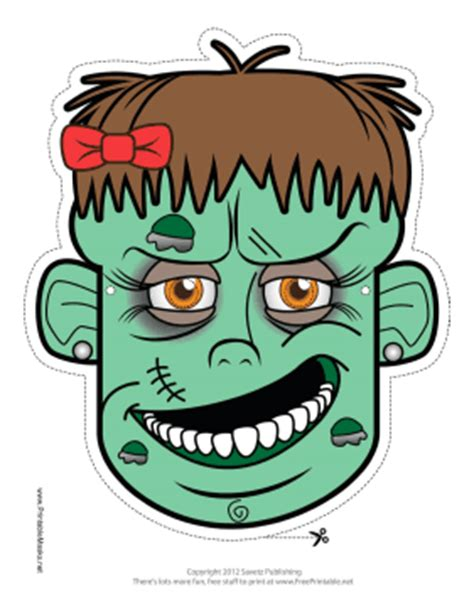 printable zombie mask printable female zombie mask mask