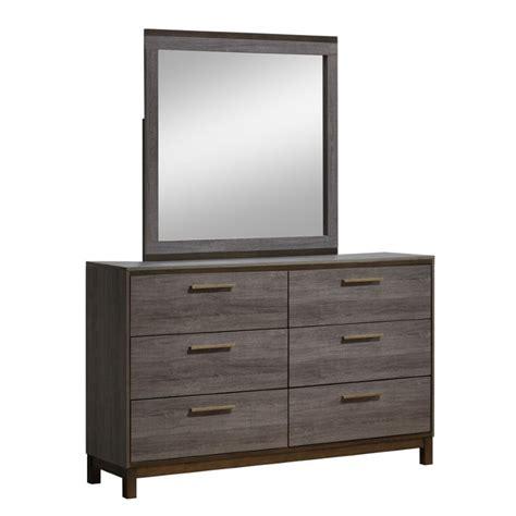 America Dresser by Furniture Of America Charlsie 6 Drawer Dresser And Mirror