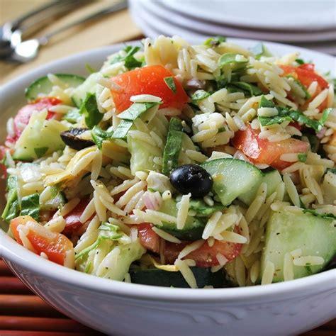 pasta salad recipes mediterranean orzo salad recipe all recipes uk