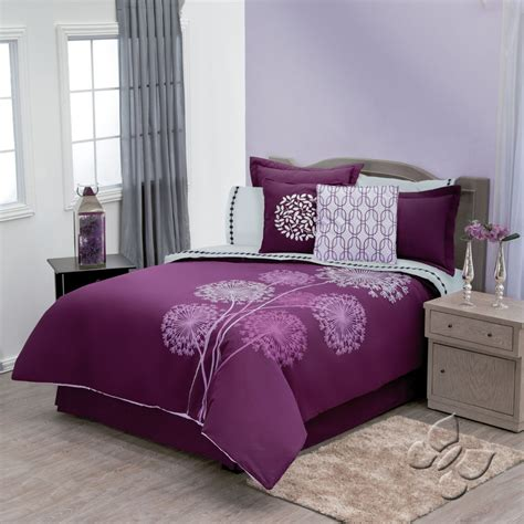 Purple Bedding Sets King New Purple Violet Flowers Duvet Comforter Bedding Sheet Set King 13pc Ebay