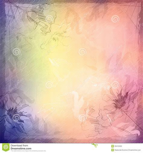 background design old paper grunge vintage sketch flowers background stock vector