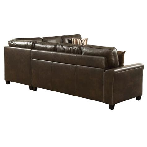 Sectional Sofa With Pull Out Sleeper Living Room Sectional Pull Out Sofa Bed Sleeper Brown Breathable Pu Ebay